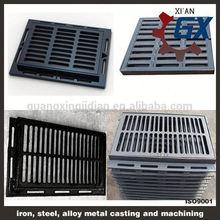 bituminous painted european black bitumen coated iron casting manhole cover