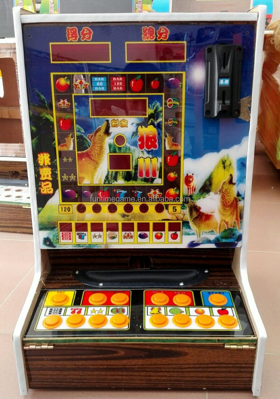 Coin slot game machine cards poker size