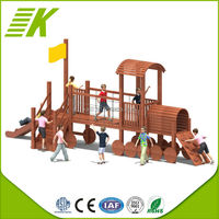 Kaip LLDPE plastic,CE,wooden toy dog playground equipment for sale KP-112A