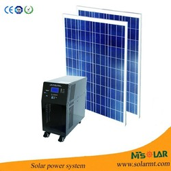 100W Panel Portable Home Solar System with 500W Inverter