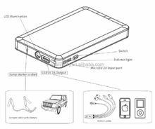 AGA Car Jump Starter 6000mAh , portable Power Bank , Pocket Battery Jump Start