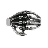 Stainless steel Men's Skeleton Hand casting Rings