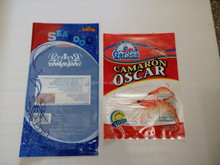 Custom printing plastic frozen mixed seafood bag for seafood packaging