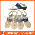 Blinking paillette ladies new fashionable wedge sandals