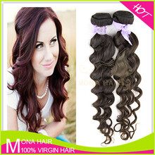 Fashionable aliexpress Brazilian virgin hair extension easy to be dyed/bleached/restyled