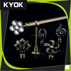 Wholesale High Efficiency Material Copper Curtain Poles, Curtain Rod FInial Whole set sale