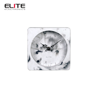 High quality marbling square concrete table clock modern clock