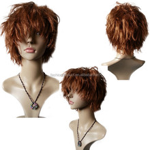 2014 Fashion Top quality Fluffy Short hair,Brown cosplay wig
