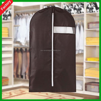 Hot sale High quality Custom Mens Black color Foldable Wholesale non woven garment suit bags for packaging use with PVC window