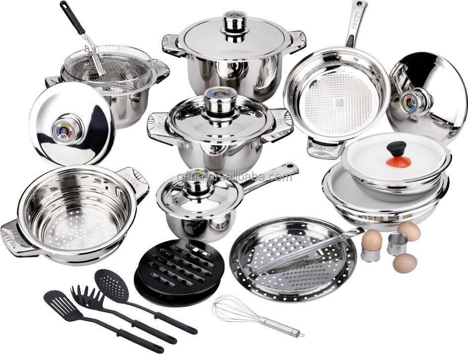 Induction Cooktop Cookware ~ Induction cookware set stainless steel cooking pan and