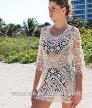 Venta al por mayor mano abrir Sexy Lady Crochet Cover Up