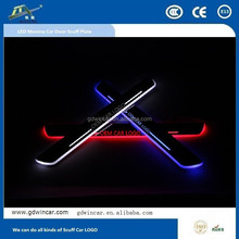 innovative new products led moving door scuff LED Scuff plate light for Hyundai IX45 2013 2014 2015 door sill plate light