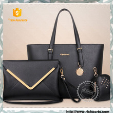 2015 super hot selling lady bag, 3 pieces handbag set, fashion women bag