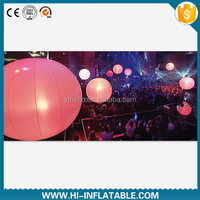 Hot sale hanging decoration/ luminous light inflatable ball/hanging LED inflatable light decoration for outdoor event,party