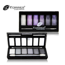 Makeup eye shadow custom eye shadow palette with brush 6 color pembayang mata beautiful makeup for girls