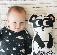 Baby throw toys stuffed die cut cotton pillow mini panda animal shaped cushion