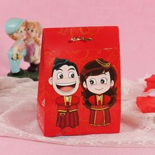 Chinese red wedding favor boxes