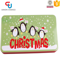 2016 New Christmas Item Metal Pencil Box Tin Box