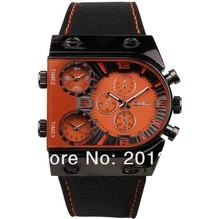 Amazing Wholesale gorgeous Oulm Quartz Personality Men Military Watch with Leather Band.High quality.9315B Cool