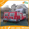 New Design inflatable fire truck,inflatable slide bouncy castle
