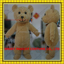 Soft plush light brown teddy bear mascot costume with build-in cooling fan fit all adult unisex teddy bear mascot costume