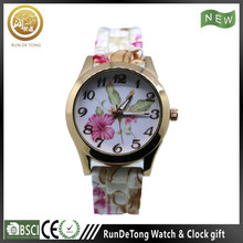 Colorful shock resistance large jelly silicone watches