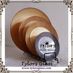 Gold Glass Dinnerware Glass Charger Plates And Dinner Plates And Salad Plates For Hotel