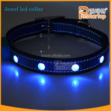 best selling products jewel two reflective dog collar pets and dogs