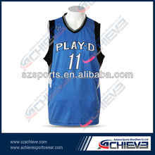 sublimation printed basketball tops for men