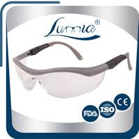 Ce En166 And Ansi Z87.1 Anti-Scratch Anti-Fog Adjustable Safety Glasses