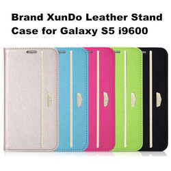 FL3633 New Listing Original XUNDD Brand Fashion Stand Flip Leather Case For Samsung Galaxy S5 Protective Cover
