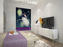 wholesale Eco-friendy 3d huge mural ballet girl dancing under moon bedroom living room sofa tv wallpaper