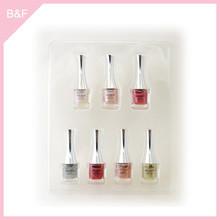 Private label makeup Nail Polish real nail polish sticker glitter design purple color nail polish wholesale