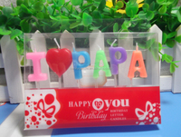 Paraffin Wax Multicolored Birthday Candle/English Letter Birthday Candle For Mama,Papa and Lover/Alphabet Candle
