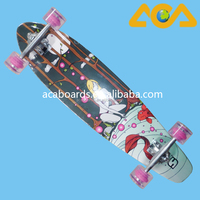 New Design Fish Tail Canadian Maple Longboards Skateboard