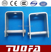 hot-selling hebei manufacturer hot dip galvanized D bracket / D iron with bolts and nuts for pole line hardware