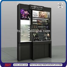 TSD-W527 custom store floor standing wooden stand makeup display/cosmetic display showcase/makeup display cabinet