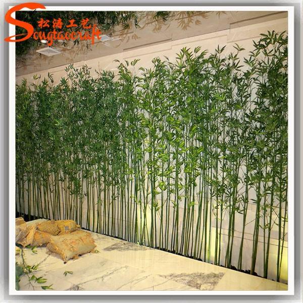 Falso verde chin s barato pl stico varas de bambu - Bambu planta exterior ...
