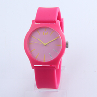 Selling fashion design silicone watches for ladies with japan movement