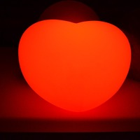 LED heart lights Creative Flashing light colorful Plastic table lamp Rechargeable Color changing with remote control