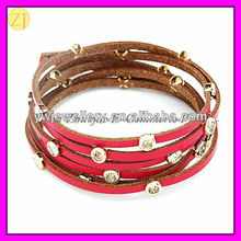 2013 Beautiful Leather Wrapped Bracelet Jewelry Fancy SZ-732