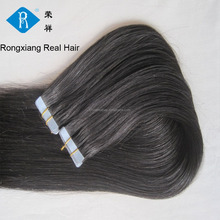 Cheap Human Remy Double Drawn Full Head keratin tape hair extension