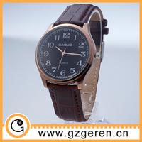 Hot selling business men wrist watch online wholesale, leather band quartz wrist watch for men