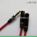 Metal cabeza splitter rca 1 macho a hembra 2 3.5mm auriculares auriculares de audio cable de extensión adaptador