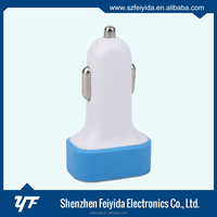 New china products blue 3 port usb car charger for iPhone