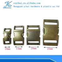 High quality zinc alloy buckle luggage strap with metal buckle 15mm curved metal buckles