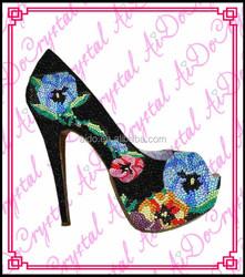Aidocrystal 2015 handmade custom flower rhinetstone fashion dress shoes and matching bags for lady