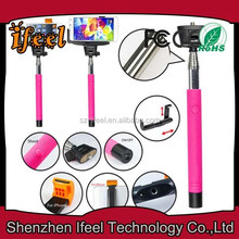 2014 Newest Upgrade Free Connect Charge Free Handheld Monopod Selfie Stick Cable Take Pole