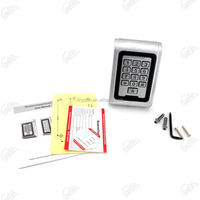 Stainless steel keypad with LED door access
