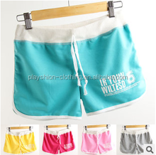 Latest Women Candy Color Yoga Shorts Girl Soft Cotton Skin Tight Gym Shorts